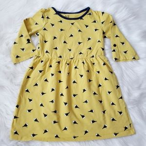 Gap Girl's Skater Bird Dress Yellow Navy 5